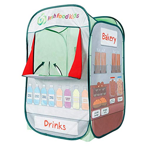 Kids Play Tent Drinks & Bakery Puppet Theater Kitchen Play-house Indoor & Outdoor