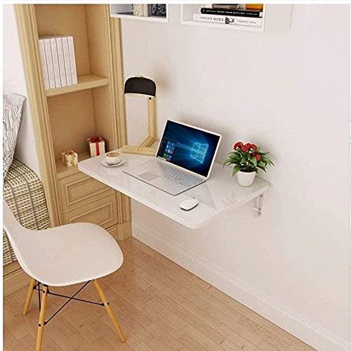 Mesa de esquina plegable de pared para cocina, comedor, escritorio, escritorio, escritorio, mesa de estudio para niños, con soportes, proceso de pintura de piano, 80 cm x 50 cm
