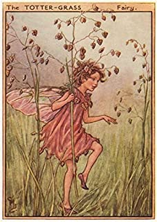 Totter-Grass Fairy by Cicely Mary Barker. Wayside Flower Fairies - c1948 - old print - antique print - vintage print - Flower Fairies art prints