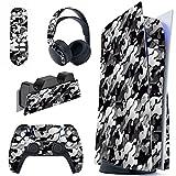 PlayVital Pegatina Completa para PS5 Edición Normal Calcomanía Vinilo para Playstation 5 Consola&Control&Estación de...