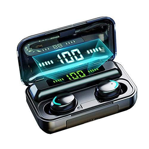 Auriculares Inalámbricos, Auriculares Bluetooth 5.0 Impermeable, Mini Portátil Caja de Carga, HI-FI Estéreo, Control Tactil cancelación de Ruido, Control táctil para Correr Deporte,per iOS&Android