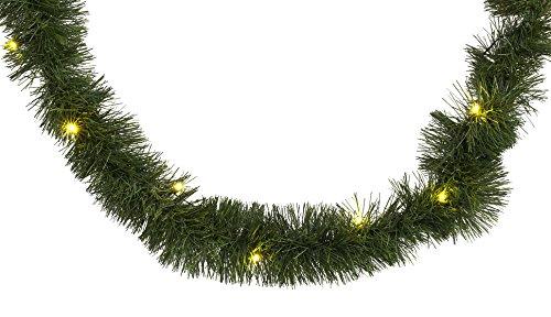 HEITMANN DECO stimmungsvolle Tannengirlande mit LED-Beleuchtung - grün- Weihnachten- für innen - natürliche Deko