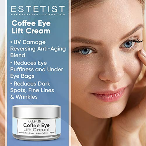 515oSFl22PL - Caffeine Infused Coffee Eye Lift Cream - Reduces Puffiness, Brightens Dark Circles, Firms Under Eye Bags - Anti Aging, Wrinkle Fighting Skin Treatment