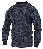 Rothco Long Sleeve Digital T-Shirts, Midnight Digital Camo, X-Large