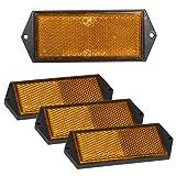 4 x Reflektor orange 104x40mm Anhänger...