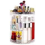 HEPAZ Organizador de Maquillaje Caja Cosméticos,Organizador de Cosméticos Ajustable de 360 Grados,Compartimento de Almacenamiento de Cosméticos con Múltiples Funciones,para Decorator Dormitorio,Baño