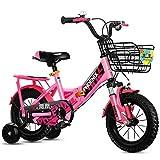 JG Bicicleta para niños, plegable para niños de 2 a 12 años, 4 colores (color: A, tamaño: 14 pulgadas)