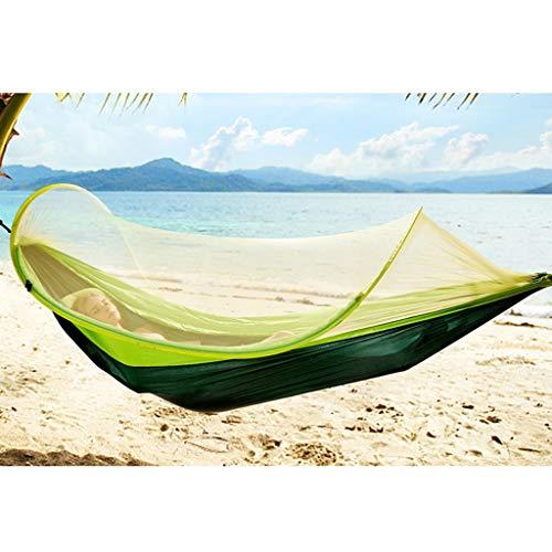 Nosterappou Hamac moustiquaire, repas de pique-nique en plein air, balançoire camping hamac anti-moustiques, loisirs et confort, port de poids léger, hamac d'extérieur en toile à parachute double, lég