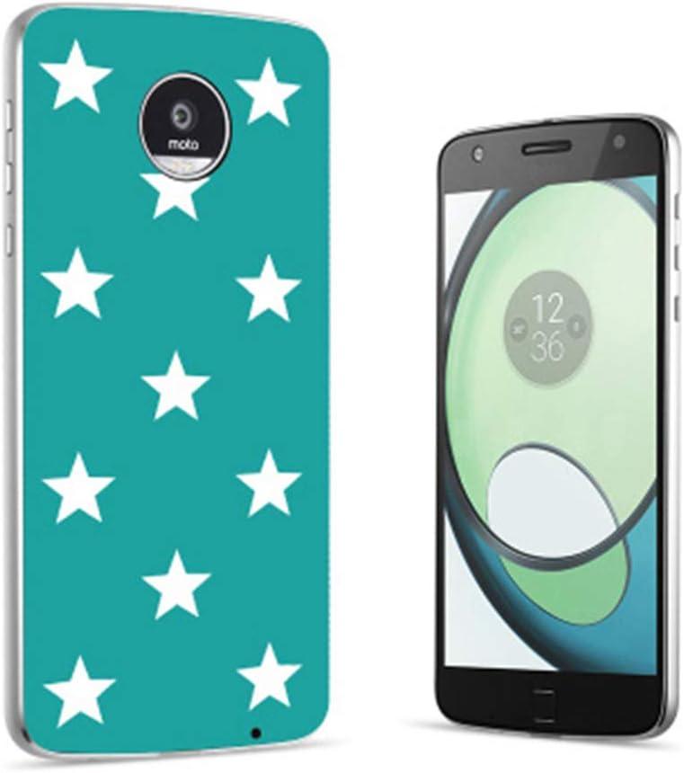 Moto Z3 Z2 Z Series Case Style Shell,Slim Fit for Motorola Moto Z3 Z2 Z Play Force Droid Cover Magnetic Moto Mods Back Plate (Sky Stars)