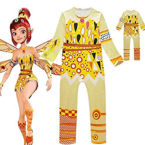 GJBXP Niñas Cosplay Disfraces Dibujos animados Mia Yuko Monos para niños Halloween Navidad Ropa de rendimiento C34542CH 140