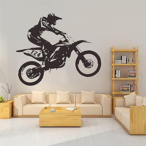 Pegatinas de pared frescas para motocicleta, estilo de carreras, dormitorio, sala de estar, decoración del hogar