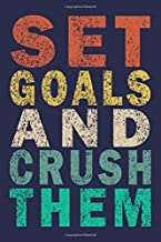 Set Goals and Crush them: Funny Vintage Coworker Gifts Journal