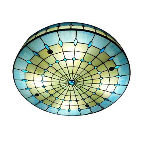 Lampara Techo Tiffany Azul Marca XMYX