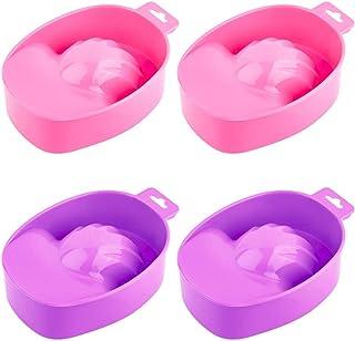 Surfilter 4 PCS Manicure Bowl Remojo Soak Bowl Nail Art Polish Eliminar Wash Manicure Spa Tool