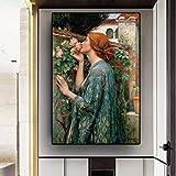 hetingyue Pintura Mural mi Dulce Rosa Retrato Modular Arte Lienzo póster Sala sin Marco Pintura 50X70 cm