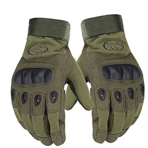 Guantes Moto Guante de Moto, Almohadillas de Gel Antideslizantes para Dedos completos, Guantes de Motocross con protección de Nudillos, Hebilla mágica Ajustable