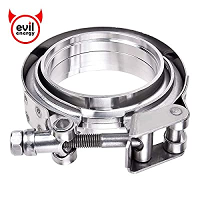 """EVIL ENERGY 3.0"""" Quick-release V Band Exhaust Clamp Male Female Flanges Kit Stainless Steel Universal"""