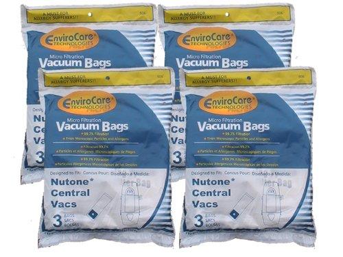 12 Central Vacuum Cleaner bags For Nutone Broan Cyclovac Dynavac Easyflo Eureka Filteraire Frigidaire Housekeeper/Rittenhouse Husky Miami Carey Singer Smart Soluvac Vacuflo 391, CF3918, 110025, 110056, Nutone-391, 44186 6 gallon