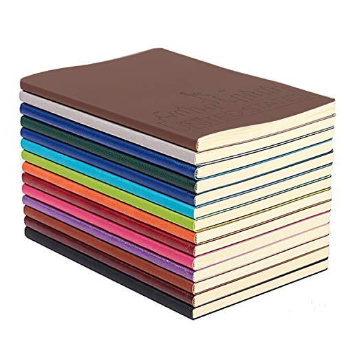 XYTMY Colorful PU Leather Notebook, A5 Travel Journal Set, Diario di Viaggio A5, Diario di Viaggiatore, Studenti e Ufficio, Carta Foderata, 128 Pagine, Confezione da 4, Colori Casuali