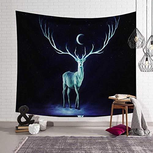 Shocking Earth Design Tapiz montado en la pared Nebulosa Luna Elk Mandala Yoga Toalla de playa Manta Decoracin de la habitacin de los nios Ropa de cama