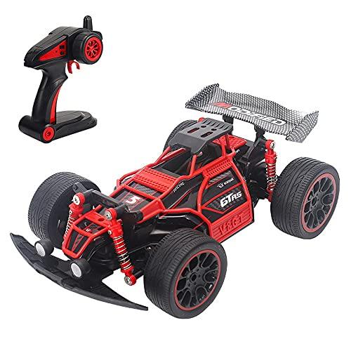 Nsddm 2.4GHz Control Control Remoto eléctrico 4WD All Terrain Offroad Vehículo Alto y Baja Velocidad Interruptor de Alta Velocidad a Prueba de Agua Coche Carreras Toy Coche para niños Niños