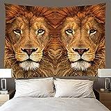 H/H Tapiz 3D Lion Tapices Mat Manta De Toalla De Playa, Sábana De Playa De Picnic, Boho, Colgante De Pared Decorativo 260(H) X300(An) Cm