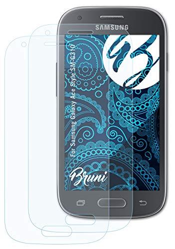 Bruni Schutzfolie kompatibel mit Samsung Galaxy Ace Style SM-G310 Folie, glasklare Bildschirmschutzfolie (2X)