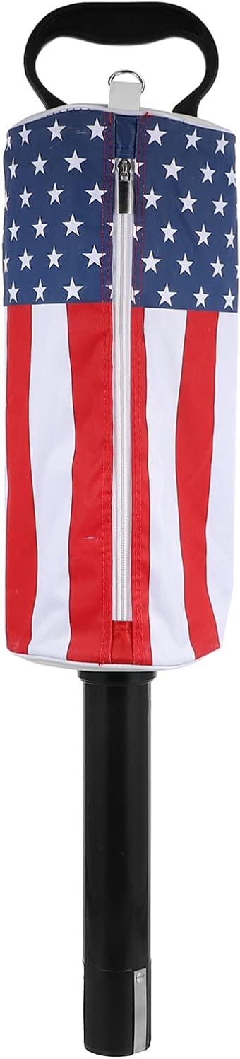 LIOOBO Golf Ball Shag Bags American Flag Detachable Golf Ball Co