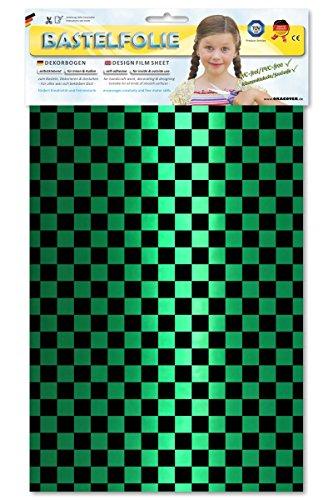 ORASTICK 48-047-071-B - Bastelfolie Fun 4, Circa A4, Perlmutt grün/schwarz