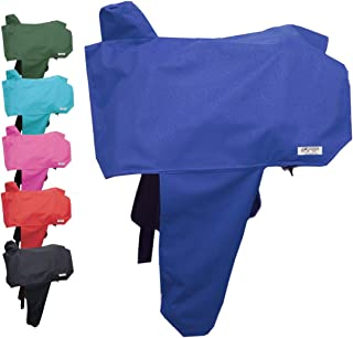 Tahoe Premium Heavy Duty Nylon Waterproof Western Saddle Cover With Six Elastic Holding Straps and Stirrup Covers - Fits Most Saddle Sizes and Types - Multiple Colors Available