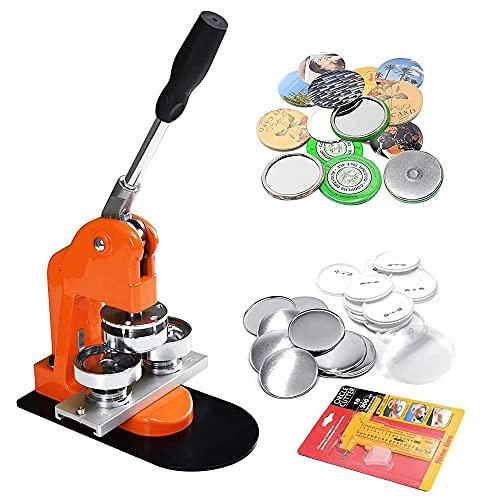 Button Maker Machine 37mm 1.5 inch Button Badge Maker Pins Punch Press Machine Aluminum Frame 100pcs Free Button Parts + Circle Cutter (37mm 1.5inch)