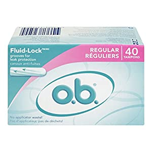 o.b. Regular Absorbency Tampons, 40-Count Box