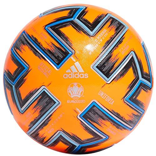 adidas UNIFO Pro WTR Balón de Fútbol, Men\'s, Solar Orange/Black/Glory Blue, 5