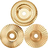 3 Pieces Grinding Wheel Shaping Disc Angle Grinder Discs Wood Carving Disc Angle...