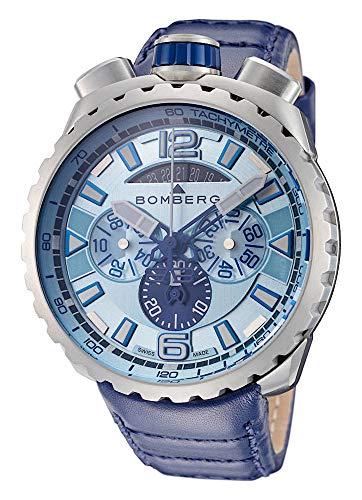 Bomberg Herren-Armbanduhr Bolt-68 Chronograph Datum Analog Quarz BS45CHSS.050-7.3