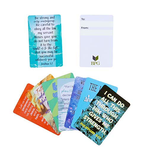 24-Pack Plastic Bible Scripture Encouragement Cards Christian Inspirational Prayer Verses Wallet Size 3 x 2 Inches