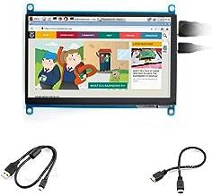 7inch HDMI LCD (H) 1024x600 Monitor IPS Screen Capacitive Touch Display Supports Raspberry Pi BeagleBone Black Banana Pi & Microsoft XBOX360, Sony PS4,Nintendo Switch