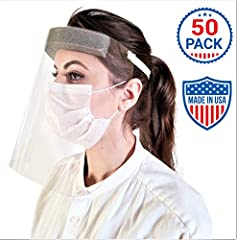 ✓ Functional Face Shields with No Assembly Needed ✓ Comfortable, Durable, Quality Material ✓Easy to Adjust, Clean and Care for✓ MADE IN AMERICA An American Manufacturer in the small town of Dexter, Minnesota started making these face shields for the ...