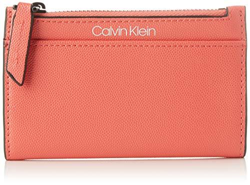 Calvin Klein Ck Signature Ns Cardholder, Portefeuilles femme, Rouge (Coral), 1x1x1 cm (W x H L)