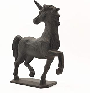 Cast Iron Rustic Unicorn Statue Sculpture Doorstop Door Stop Door Stopper Door Wedge Door Holder for Bedroom, Bath, Hotel Home Restaurant, Dark Rust