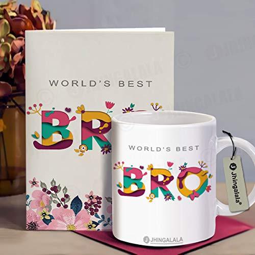 Jhingalala Raksha Bandhan Gifts Pack for Brother (Lord Ganesha Designed Pendant Rakhi, Printed Coffee Mug, World's Best Bro Raksha Bandhan Greeting... 3