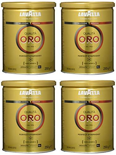Lavazza Qualità Oro 250 g Dose, 4er Pack (4 x 250 g)