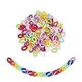 Airssory 1200 piezas de anillos de enlace de acrílico de colores Cadenas giratorias de plástico Conectores de enlace rápido de plástico surtidos para pulsera, collar, pendientes, fabricación de joyas