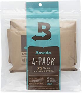 Boveda for Cigars/Tobacco | 75% RH 2-Way Humidity Control | Size 60 for Use with Every 25 Cigars a Humidor Can Hold | Pate...