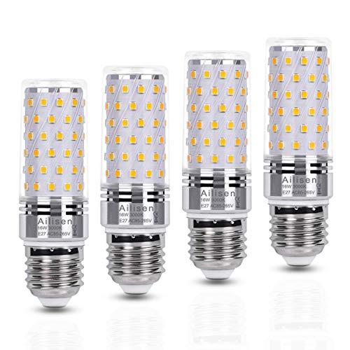 E27 LED Birnen Warmweiß 16W 3000K 1650LM Entspricht Glühbirnen 120W, Led Glühbirnen Mais lampe Led Maiskolben Edison-Schraube Birnen Kerze Leuchtmittel