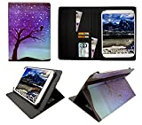 Sweet Tech Denver TAQ-10252 / TAQ-10253 / TAQ-10283 10.1 Zoll Tablet Nachthimmel Universal Wallet Schutzhülle Folio (10-11 Zoll)