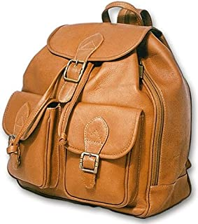 David King & Co. Double Front Pocket Backpack, Tan, One Size