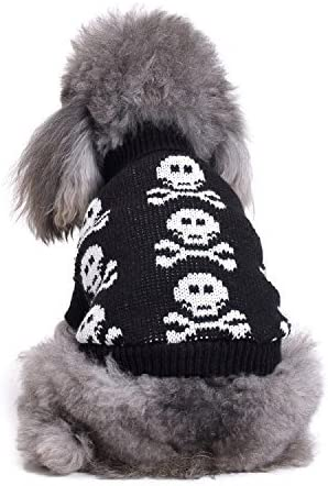 S-Lifeeling excellence Skull Dog Sweater Holiday Halloween Pet Cl Financial sales sale Christmas
