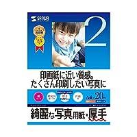 (まとめ)サンワサプライ インクジェット写真用紙・厚手 JP-EK5A4【×5セット】 ds-1616632