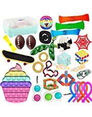 Fidget Toys Set, Relieves Stress and Anxiety Fidget Toy for Children Adults, Special Toys Assortment for Birthday Party Favors, Classroom Rewards Prizes, Carnival.